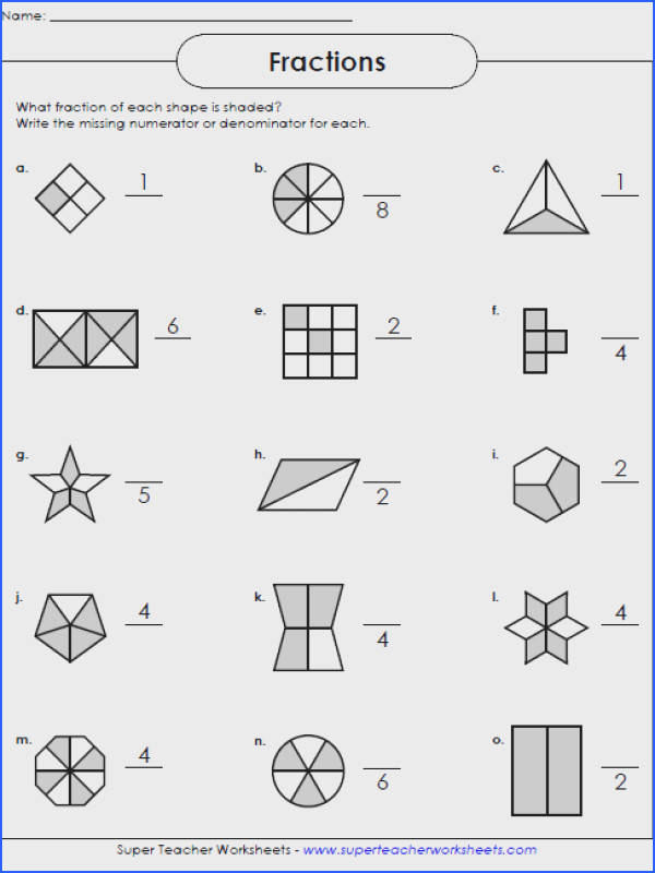 Math Problems Fractions Worksheets Fraction Worksheet