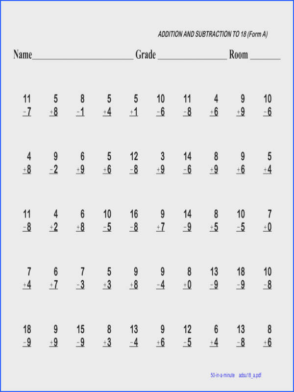 Pleasing Math Worksheets For 3rd Grade Addition And Subtraction About 102 Best Kumon