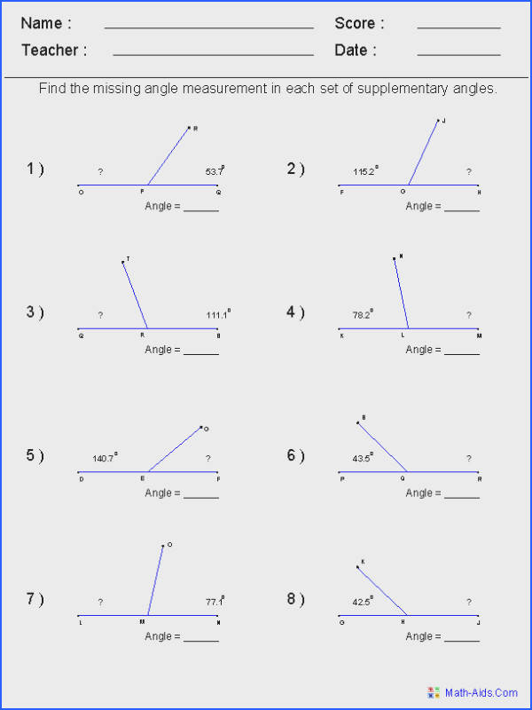 These Angles Worksheets are perfect for learning and practicing various types problems about different angle topics