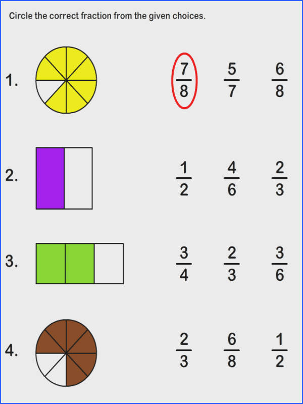 Math Worksheets Worksheets Fractions Worksheet I don t like worksheets but this gives a good basis for some activities involving fractions