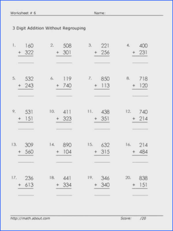 Here are 3 digit adding worksheets without regrouping so young learners Printable Maths WorksheetsAddition WorksheetsFirst Grade MathSecond