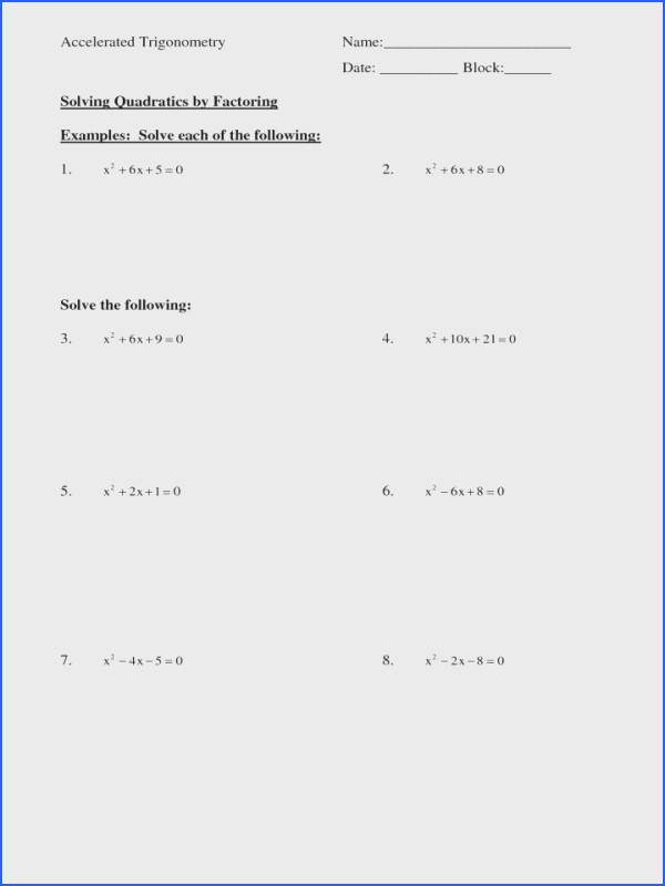 Factoring Quadratics Worksheet Best About Polys Factor 6th Grade Math Greatest mon L Worksheets Free