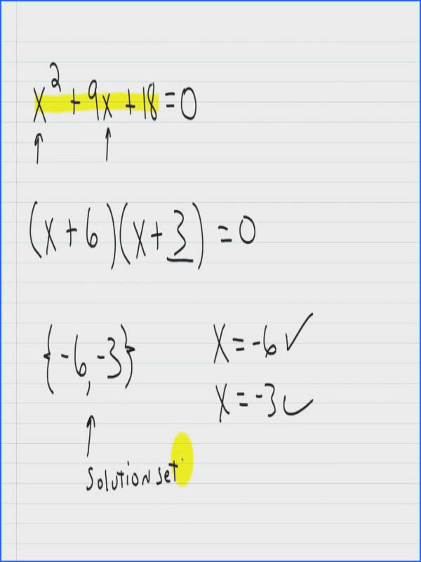 Mathheets Factoring Algebra I Help Solving Quadratic Equations By Part Polynomials Math Worksheets Free Trinomials