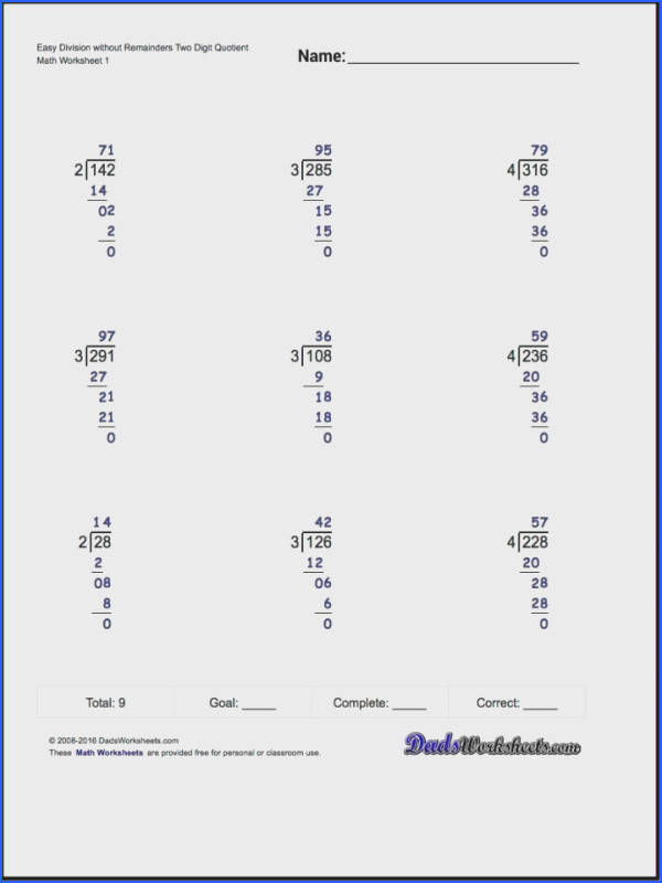 Math Worksheets Grade Long Division Our Are Designed To Introduce Variousor With Answers Pdf 4th No