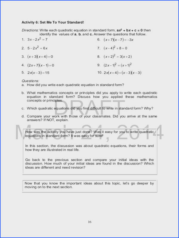 simple quadratic equations worksheet pdf tessshebaylo. Black Bedroom Furniture Sets. Home Design Ideas