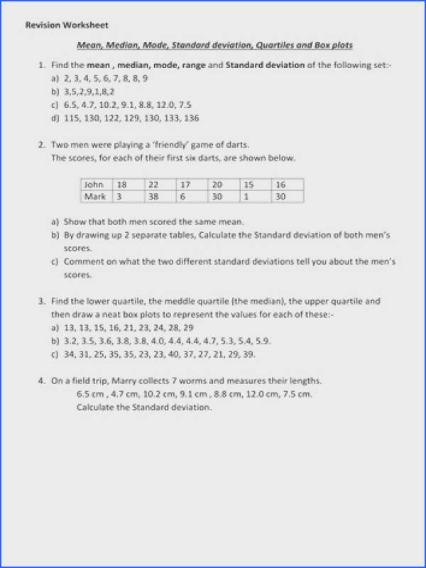 mean median and mode worksheets mean median mode range and standard deviation worksheet