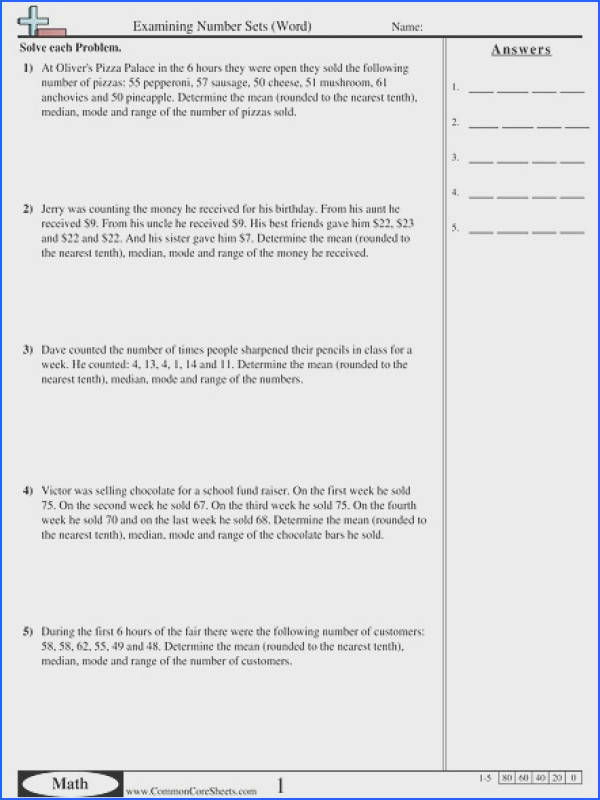 Worksheets for all Download and Worksheets Statistics Worksheets mean median mode range