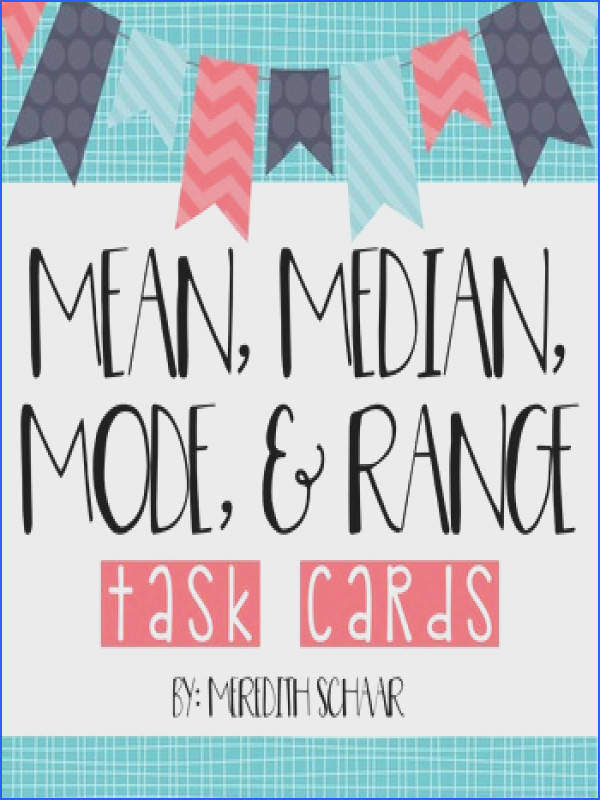 Median Mode and Range Task Cards & Anchor Charts