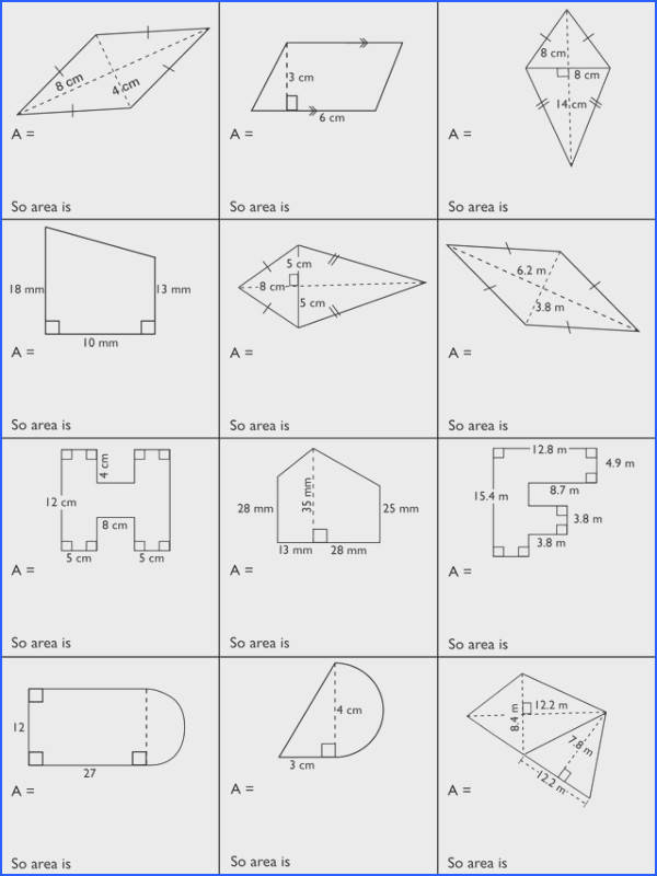 Measurement – Surface Area and Volume