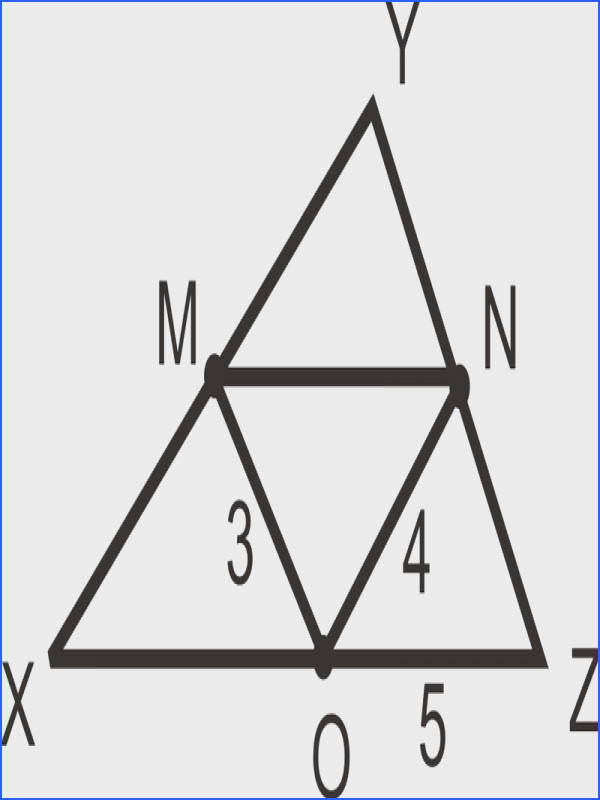 the midpoints of the sides of the triangle