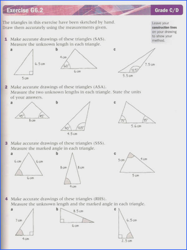 Adorable Missing Angles In Triangles Worksheet Tes Also Constructing Triangles By Lc Teaching Resources Tes