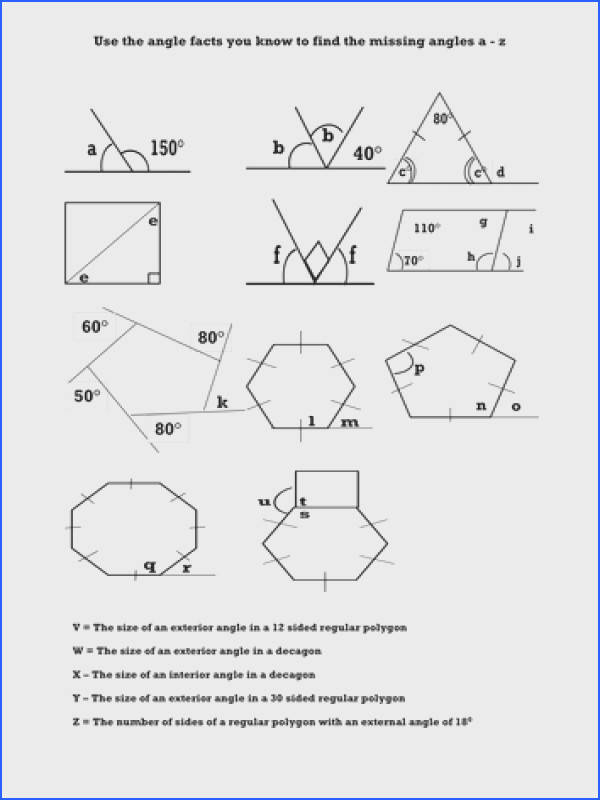 Interior Angles Of A Polygon Worksheet Tes Image Of Ruostejarvi