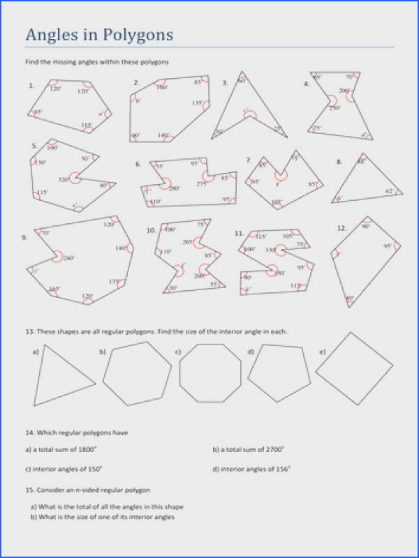 Inspiration Missing Angles In Triangles Worksheet Tes Ks3 Maths Angles In Polygons Worksheet By