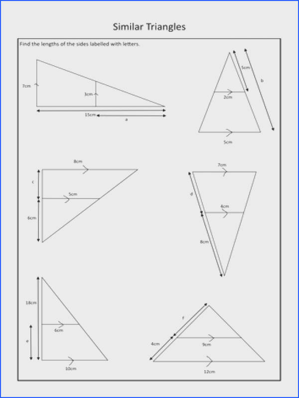 Fair Missing Angles In Triangles Worksheet Tes Also Similar Triangles Worksheet By Durhampotter Teaching Resources
