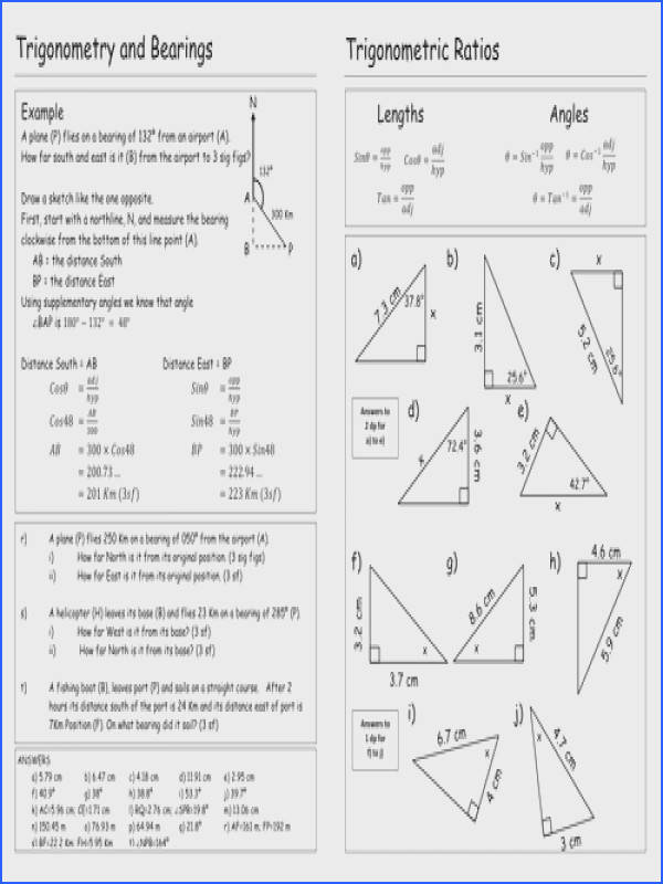 Confortable Missing Angles In Triangles Worksheet Tes In Trigonometry Worksheet By Pebsy Teaching Resources Tes