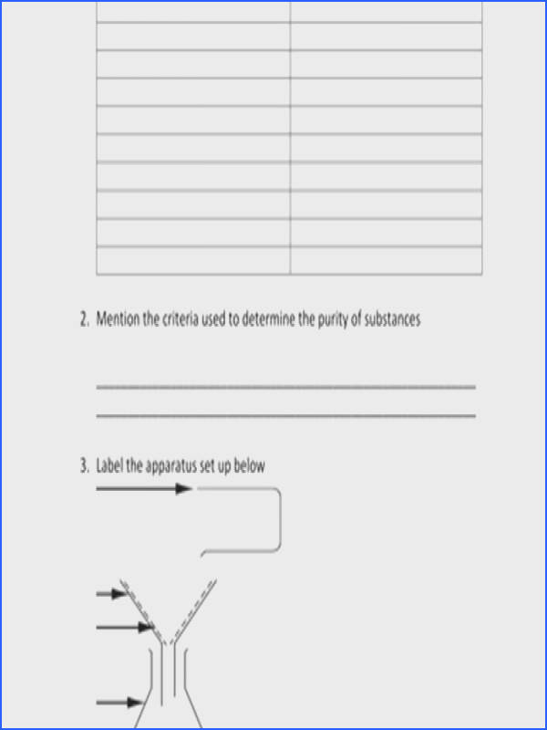 Mixture Worksheet