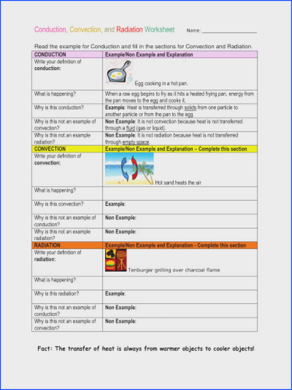 Mixtures and solutions Worksheet Awesome Conduction Convection and Radiation Mixtures and solutions Worksheet Unique