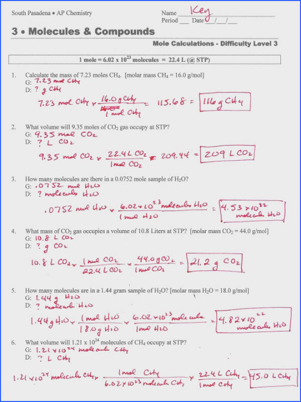 Mole Conversion Practice Worksheet Worksheets for all Download and Worksheets