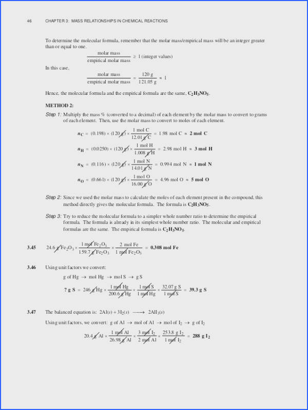 Mole Conversion Worksheet | Mychaume.com