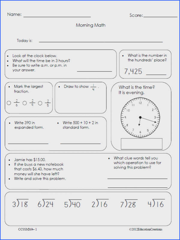 mon Core Math Worksheets For 4Th Grade Worksheets for all Download and Worksheets