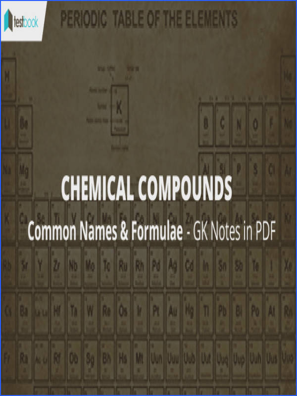 mon Names of Chemical pounds and Formula SSC GK Notes Testbook Blog