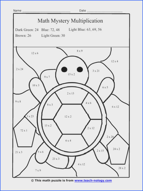 Multiplication Facts Worksheets color