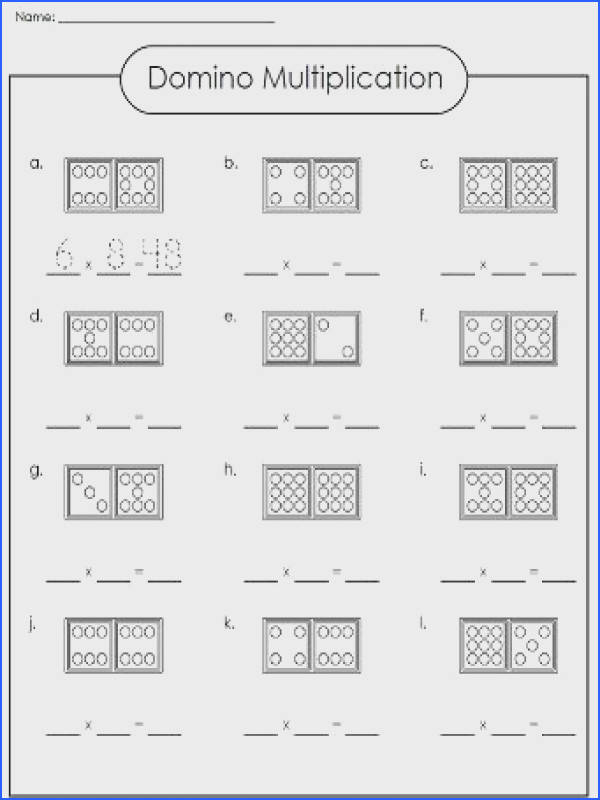 Check out our domino multiplication worksheet