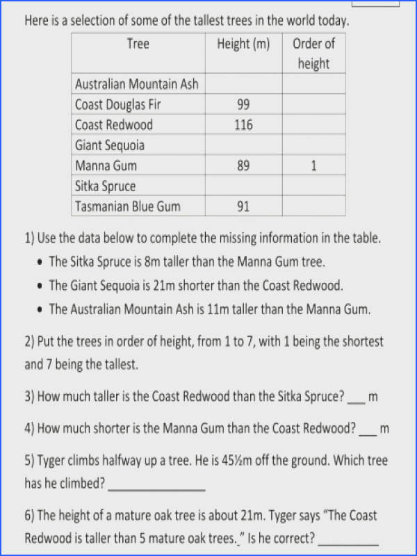 multiplication word problem worksheets 3rd grade math problems and division tallest trees m a part of under