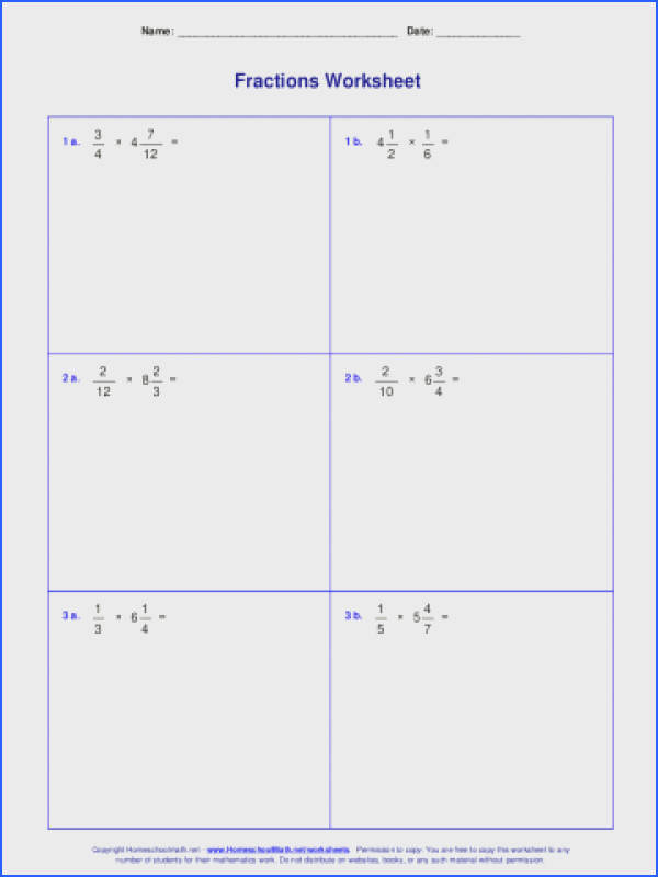 Multiply Mixed Number Fractionng Fractions By Whole Numbers Worksheets And Worksheet Pdf Multiplying Dividing Multiplication Division