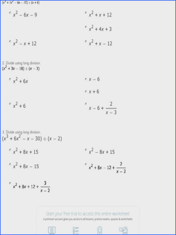 multiplying monomials and polynomials with two factors mixed quiz worksheet polynomial long division study r