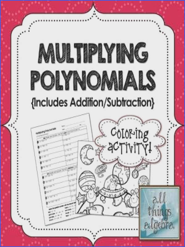 Multiplying Polynomials Foil Coloring Activity Image Below Multiplying Polynomials Worksheet Answers
