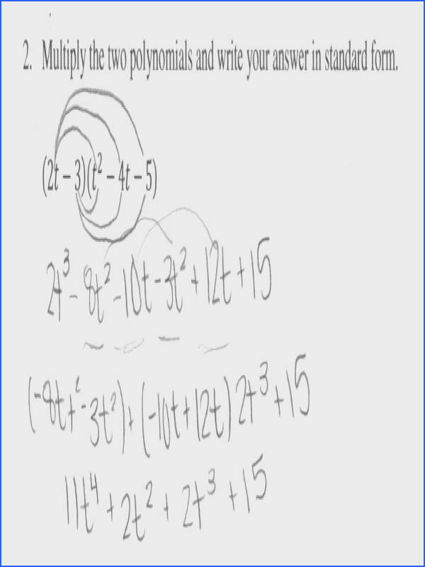 Multiplying Two Binomials Worksheet Milliken Publishing pany Answers Polynomials Monomials And