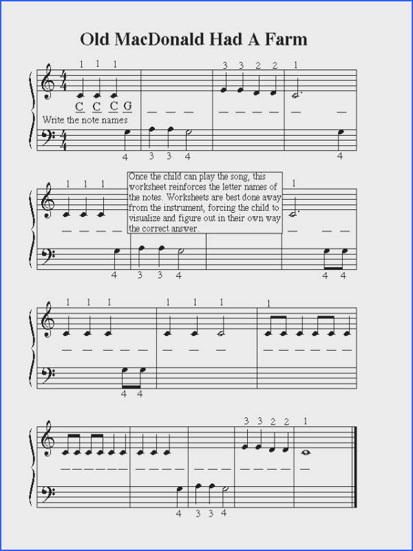 music notes worksheets for kids
