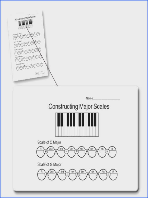 Music Theory Worksheet on scales