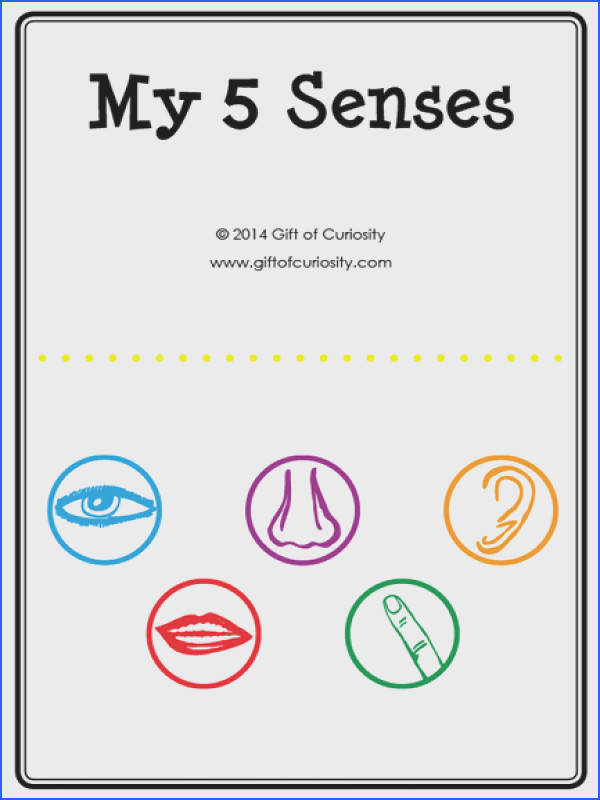 Five senses activities A printable My 5 Senses activity book plus a link to a