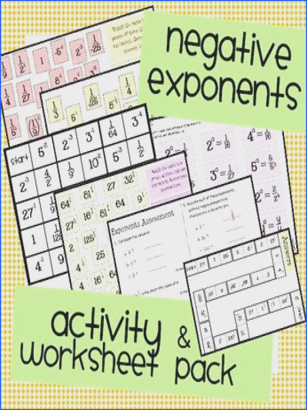 This pack includes Negative Exponents Match Three This first version only includes integer exponents