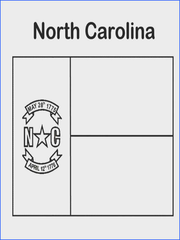 State Flag State Flag of North Carolina Coloring Page