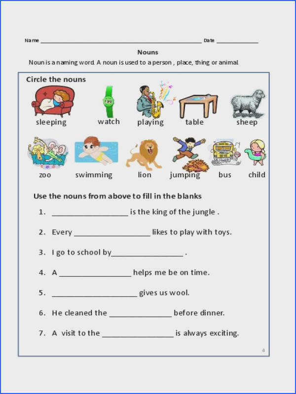Nouns Exercises for First Grade Mon Proper Nouns Worksheet 2nd Image Below Proper Nouns Worksheet