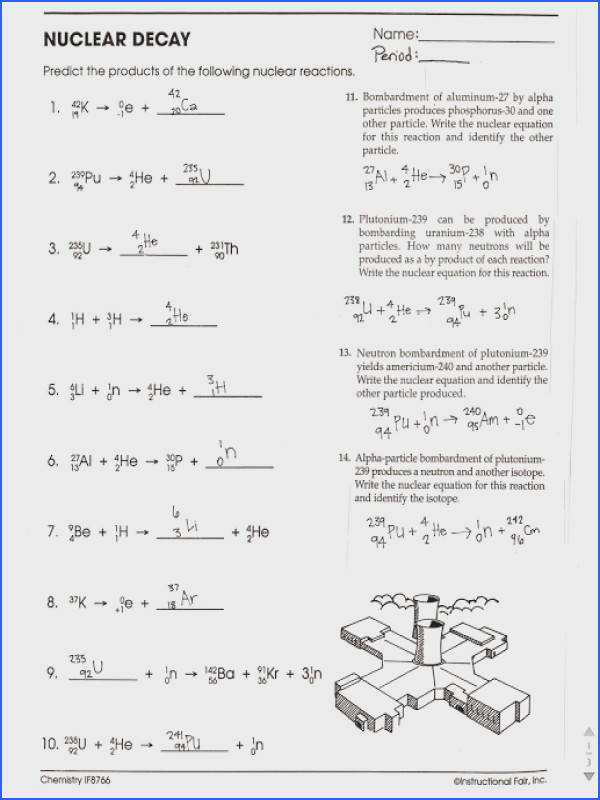 Nuclear Decay Worksheet & Print What is Nuclear Fission Image Below Nuclear Decay Worksheet Answers