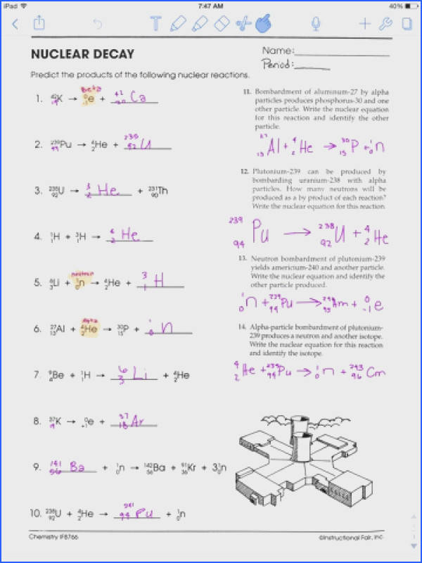 Nuclear Decay Worksheet Answers Worksheets for all Download and Worksheets