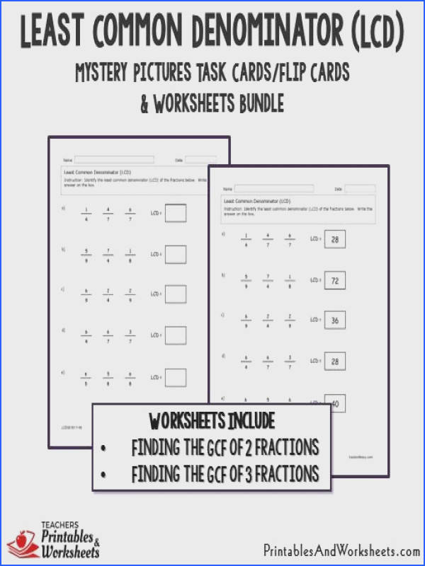 Greatest mon Factor And Least mon Multiple Worksheet