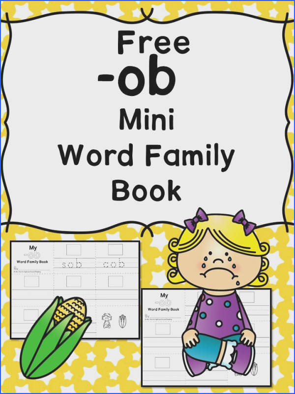 OB CVC Word Family Worksheets Make a word family book