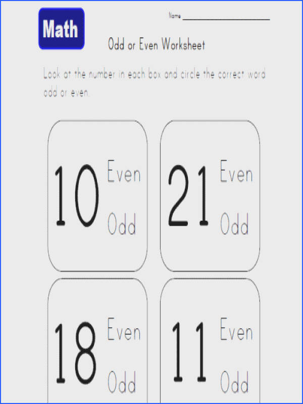 Odd And Even Worksheets For 2Nd Grade Worksheets for all Download and Worksheets