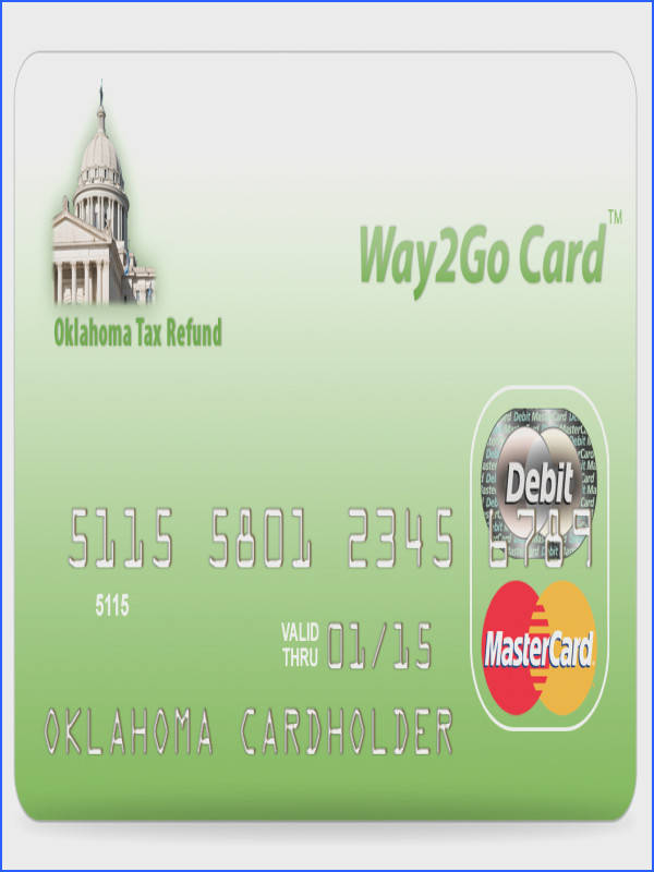 Top of Oklahoma Tax Refund Debit Card