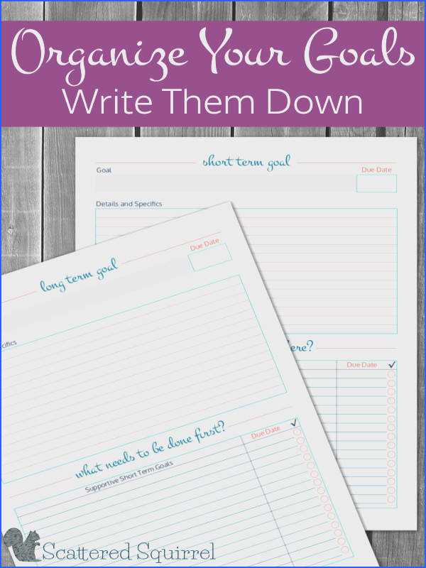 Use these free printable goal setting worksheets to make the most of the goals you set