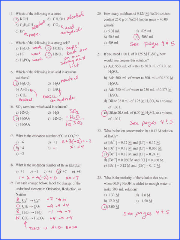 Oxidation Number Practice Worksheet