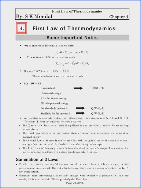 Page 28 of 265 29 First Law of Thermodynamics