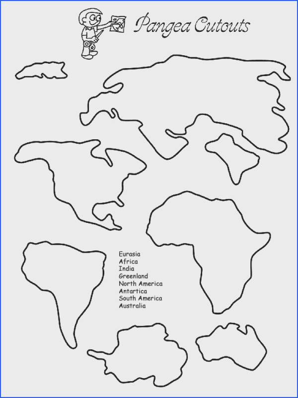 Pangea Continent Cut Outs Printable Puzzles The students could use this when learning about pangaea They could cut these out and paste them on a piece of