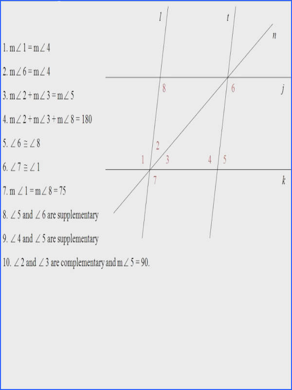 Parallel Lines Proof Worksheet Answers Worksheets for all Download and Worksheets