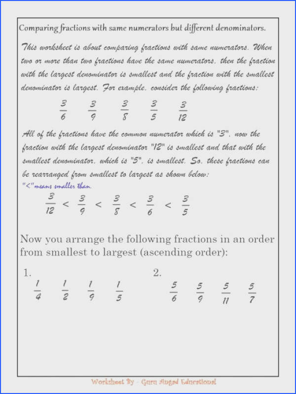 52 paring rational numbers worksheet endowed paring Rational Numbers Worksheet Fractions Newfangled Made Easy with